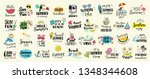 big set of summer labels  logos ... | Shutterstock .eps vector #1348344608