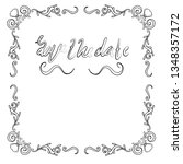 vintage handdrawn ornate frames ... | Shutterstock .eps vector #1348357172