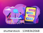 man and woman using online... | Shutterstock .eps vector #1348362068