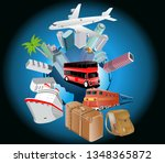 travel over the world concept...   Shutterstock .eps vector #1348365872
