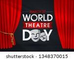 27 mart d nya tiyatrolar g n .... | Shutterstock .eps vector #1348370015