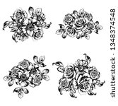 flowers set. collection of... | Shutterstock . vector #1348374548