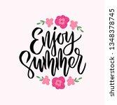 hand drawn lettering   enjoy...   Shutterstock .eps vector #1348378745
