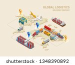graphic structure of global... | Shutterstock .eps vector #1348390892