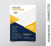 geometric real estate brochure...   Shutterstock .eps vector #1348401752