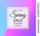 spring sale banner. spring sale ... | Shutterstock .eps vector #1348414502