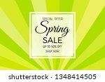 spring sale background banner... | Shutterstock .eps vector #1348414505