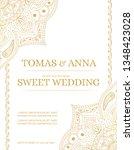 traditional wedding invite card ... | Shutterstock .eps vector #1348423028