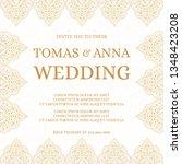 traditional wedding invite card ... | Shutterstock .eps vector #1348423208