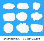 white blank speech bubbles ... | Shutterstock .eps vector #1348428395
