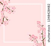 abstract floral sakura flower... | Shutterstock .eps vector #1348428482