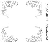hand drawn wedding invitation... | Shutterstock .eps vector #1348429172