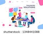 teamwork images  together...   Shutterstock .eps vector #1348441088