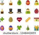 color flat icon set   easter... | Shutterstock .eps vector #1348442855
