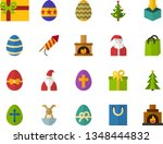 color flat icon set   easter... | Shutterstock .eps vector #1348444832