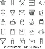 thin line vector icon set  ... | Shutterstock .eps vector #1348445375