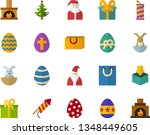color flat icon set   easter... | Shutterstock .eps vector #1348449605