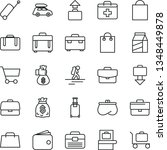 thin line vector icon set  ... | Shutterstock .eps vector #1348449878