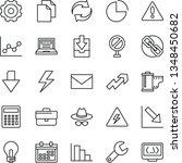 thin line vector icon set  ... | Shutterstock .eps vector #1348450682