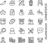 thin line vector icon set  ... | Shutterstock .eps vector #1348453415