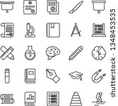 thin line vector icon set  ... | Shutterstock .eps vector #1348453535