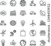 thin line vector icon set  ... | Shutterstock .eps vector #1348453922