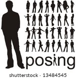 high quality traced posing... | Shutterstock .eps vector #13484545