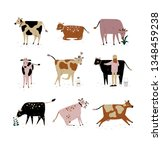 cattle breeding farming  dairy... | Shutterstock .eps vector #1348459238