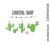 looking sharp banner prickly... | Shutterstock .eps vector #1348460438