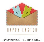 happy easter. pair of easter... | Shutterstock .eps vector #1348464362