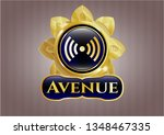 golden badge with signal icon...   Shutterstock .eps vector #1348467335