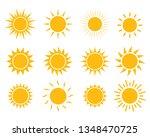sun set icon vector   Shutterstock .eps vector #1348470725