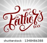 happy father s day handwritten... | Shutterstock .eps vector #1348486388