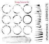grungy vector textures set | Shutterstock .eps vector #1348492175