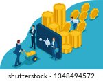 isometric protect your funds...   Shutterstock .eps vector #1348494572