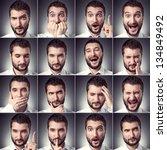 set of handsome emotional man... | Shutterstock . vector #134849492