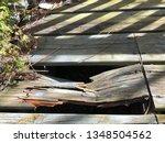 Dry Old Rusty Broken Wooden...