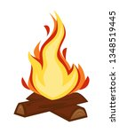fire discovery campfire or... | Shutterstock .eps vector #1348519445