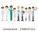 medical team  vector... | Shutterstock .eps vector #1348527122