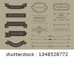 vintage banner and design... | Shutterstock .eps vector #1348528772