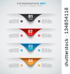 infographic design template... | Shutterstock .eps vector #134854118