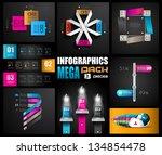 infographic design templates...   Shutterstock . vector #134854478