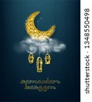 ramadan kareem background.... | Shutterstock .eps vector #1348550498