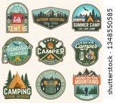 set of summer camp badges.... | Shutterstock .eps vector #1348550585