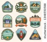 set of summer camp badges.... | Shutterstock .eps vector #1348550588
