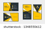 double sided creative business... | Shutterstock .eps vector #1348550612