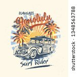 Honolulu Typography For T Shirt ...