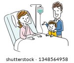 hospitalized mother and family | Shutterstock .eps vector #1348564958
