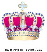 illustration tsarist gold... | Shutterstock . vector #134857232