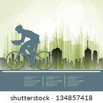 sport road bike rider bicycle.... | Shutterstock .eps vector #134857418